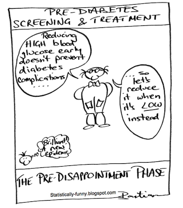 Cartoon illustrating the perils of too much screening