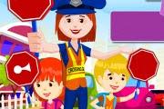 Trafik Polisi Yaya Geçidi Oyunu