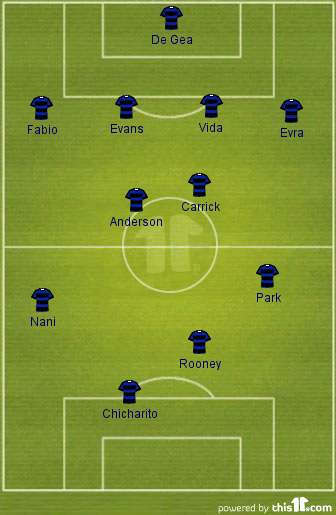 man utd lineup prediction 4-4-2 otelul galati away
