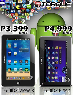 Torque's new affordable Android tablets, the DROIDZ View X and DROIDZ ...