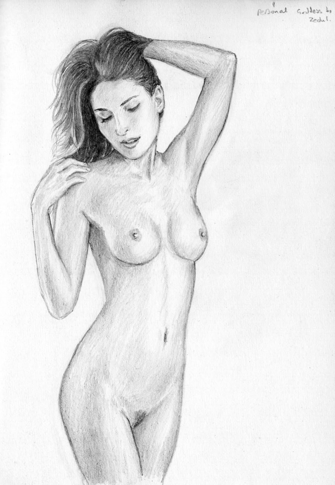 Drawing a naked sexy girl naked clip