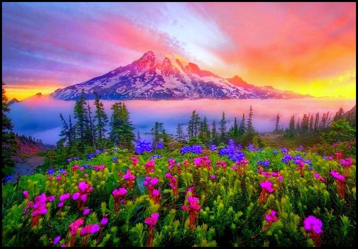 keindahan alam ciptaan Ilahi