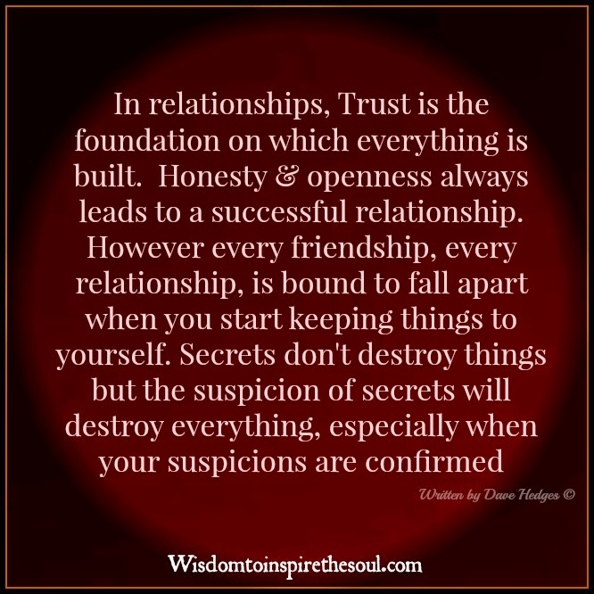 honesty in a relationship Honest honesty i have worked with many individuals who come into therapy because they are unhappy in their relationship they share with me what makes them unhappy about their loved one, meaning what that person does or doesn't bring to the relationship.