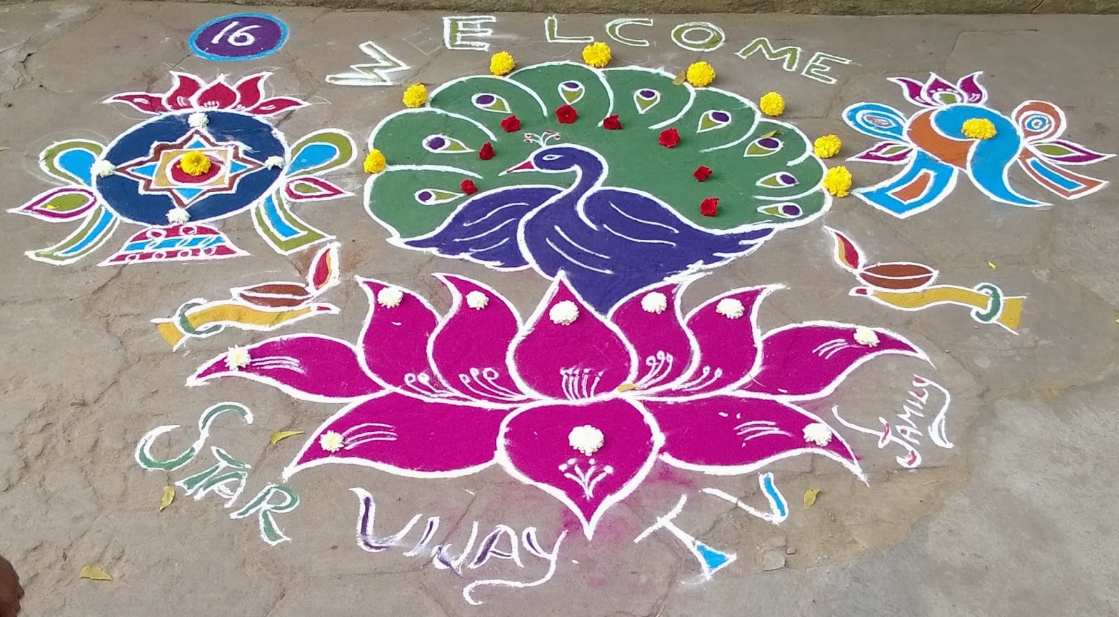 Margazhi Kolam With Dots