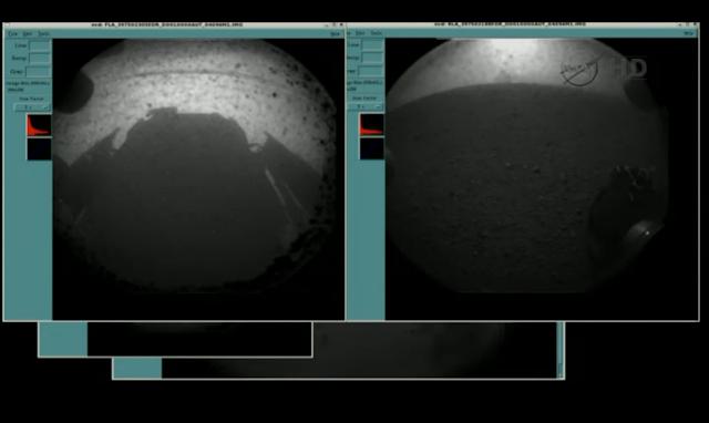 Curiosity lands Mars