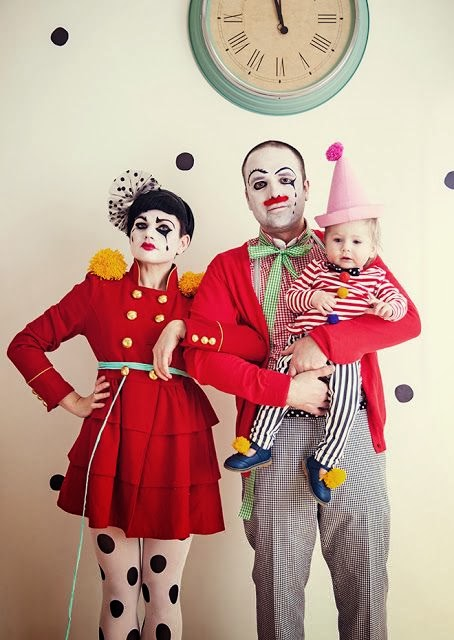 CLOWN FAMILY COSTUME / DISFRAZ FAMILIA DE PAYASOS
