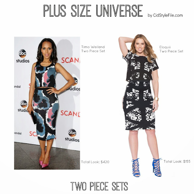 eloquii, two piece dress, twin sets, timo weiland, kerry washington, plus size fashion, plus size universe, style, steal her style, get the look