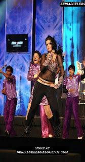 Poorna dance on stage at Maatraan Audio Launch event