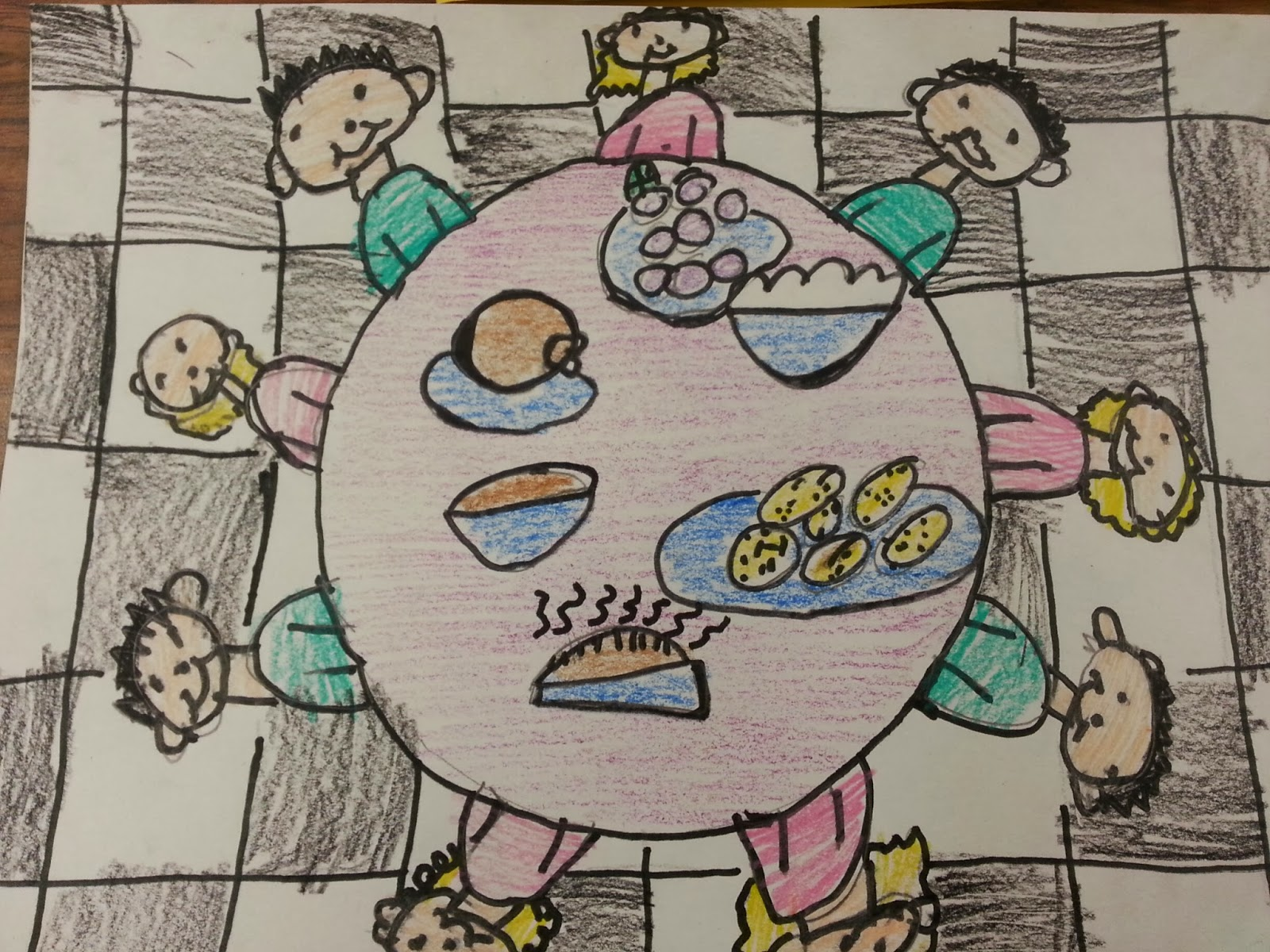 Thanksgiving turkey dinner drawing - photo#28