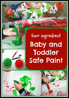 Two Ingredient Baby and Toddler Safe Paint
