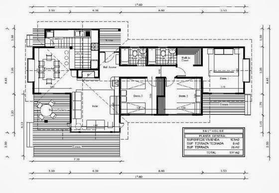 Planos de casas peque as arquitectura moderna for Planos de viviendas pequenas