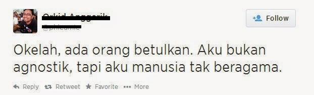 Pemuda Muslim mengaku sudah murtad di Twitter