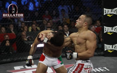 Alvarez (right) will face Aoki at Bellator 66