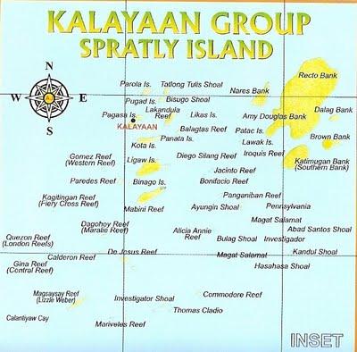Kalayaan Group Of Islands Map