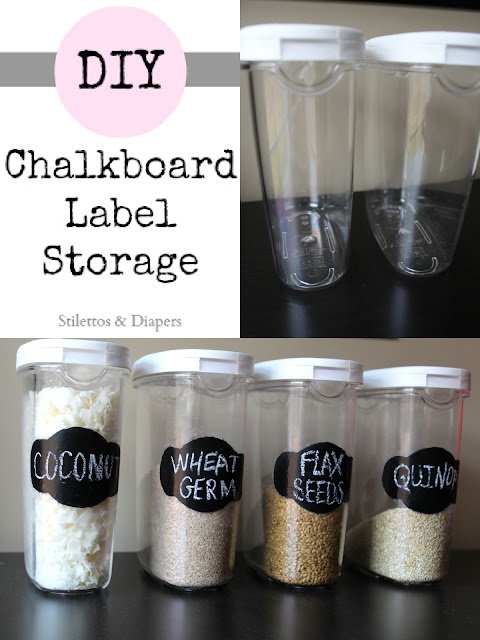 DIY, Chalkboard paint, Storage containers, chalkboard labels