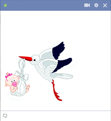 Stork icon for Facebook