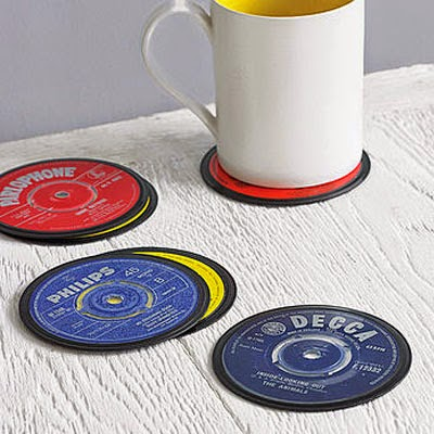 Ma Bicyclette: Buy Handmade | Christmas Gift Guide For Him - Vinyl Record Coasters