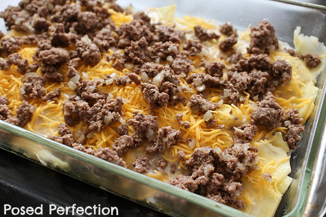 layering Hamburger Potato Casserole