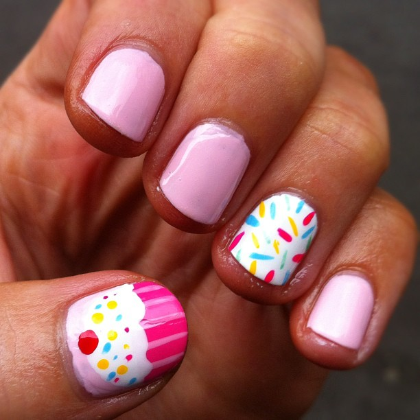 Monday Manicure: Cupcakes & Sprinkles Nail Art - Monday Manicure: Cupcakes & Sprinkles Nail Art Perfectly Polished