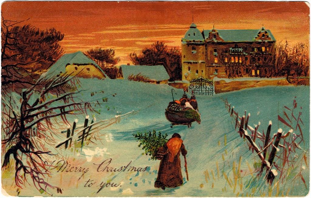 Beautiful Vintage Christmas Postcards Vintage Everyday