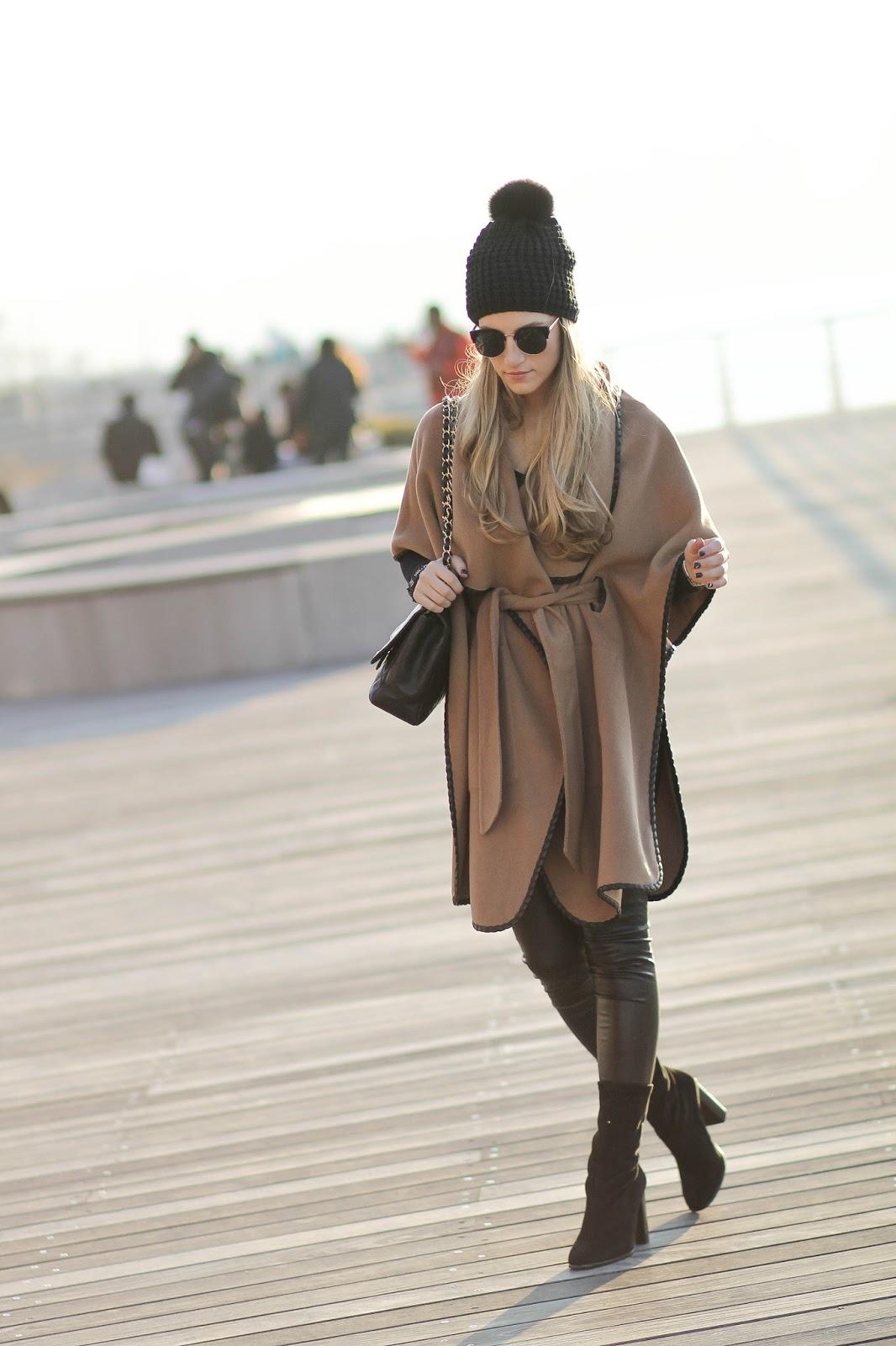 tan cape coat