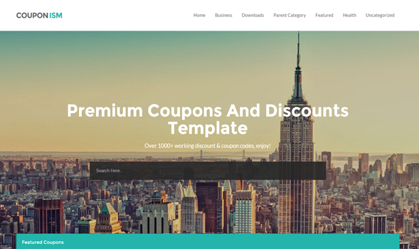 Business blogger templates couponism coupon blogger template wajeb Images