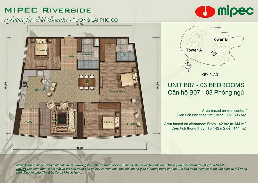 Căn B07 cư xá Mipec Riverside