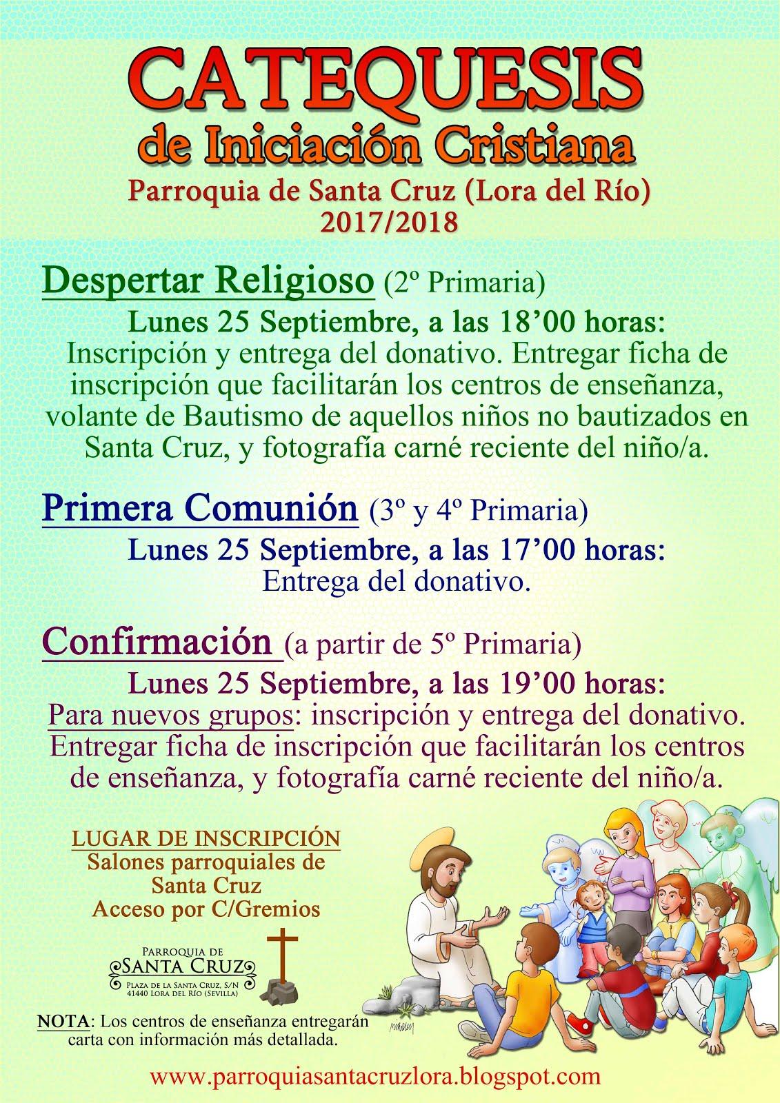 INSCRIPCIONES PARA CATEQUESIS DE NIÑOS