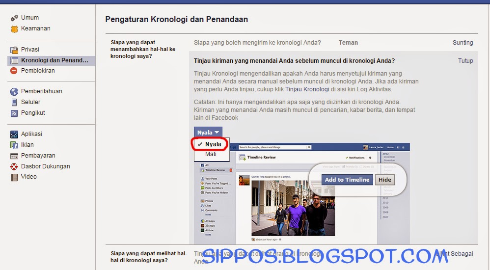 Sunting Facebook