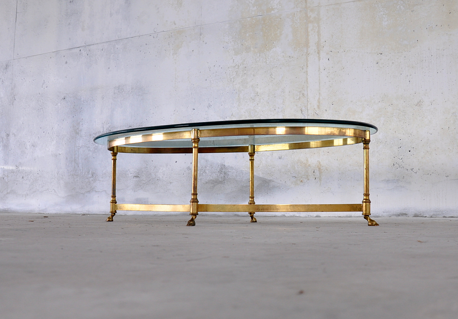%name Labarge Brass And Glass Coffee Table