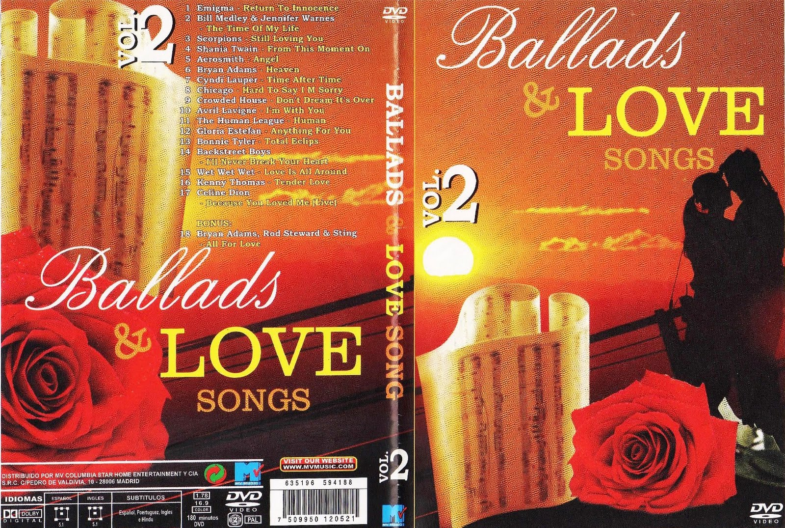 Download Ballads & Love Songs Vol.2 DVD-R ballads love songs vol 2 capa01