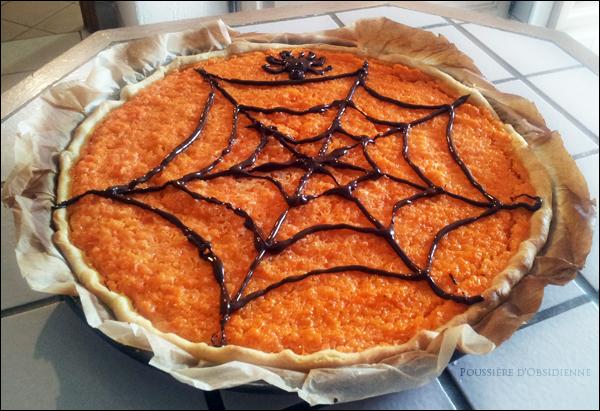Poussi re d 39 obsidienne gourmandise dessert la carotte pour halloween - Recette dessert halloween ...