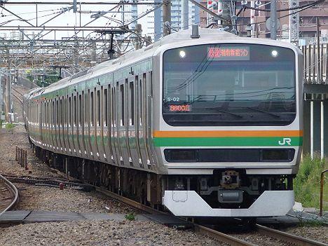 湘南新宿ライン 快速 新宿行き E231系(浦和駅高架化工事に伴う運行)