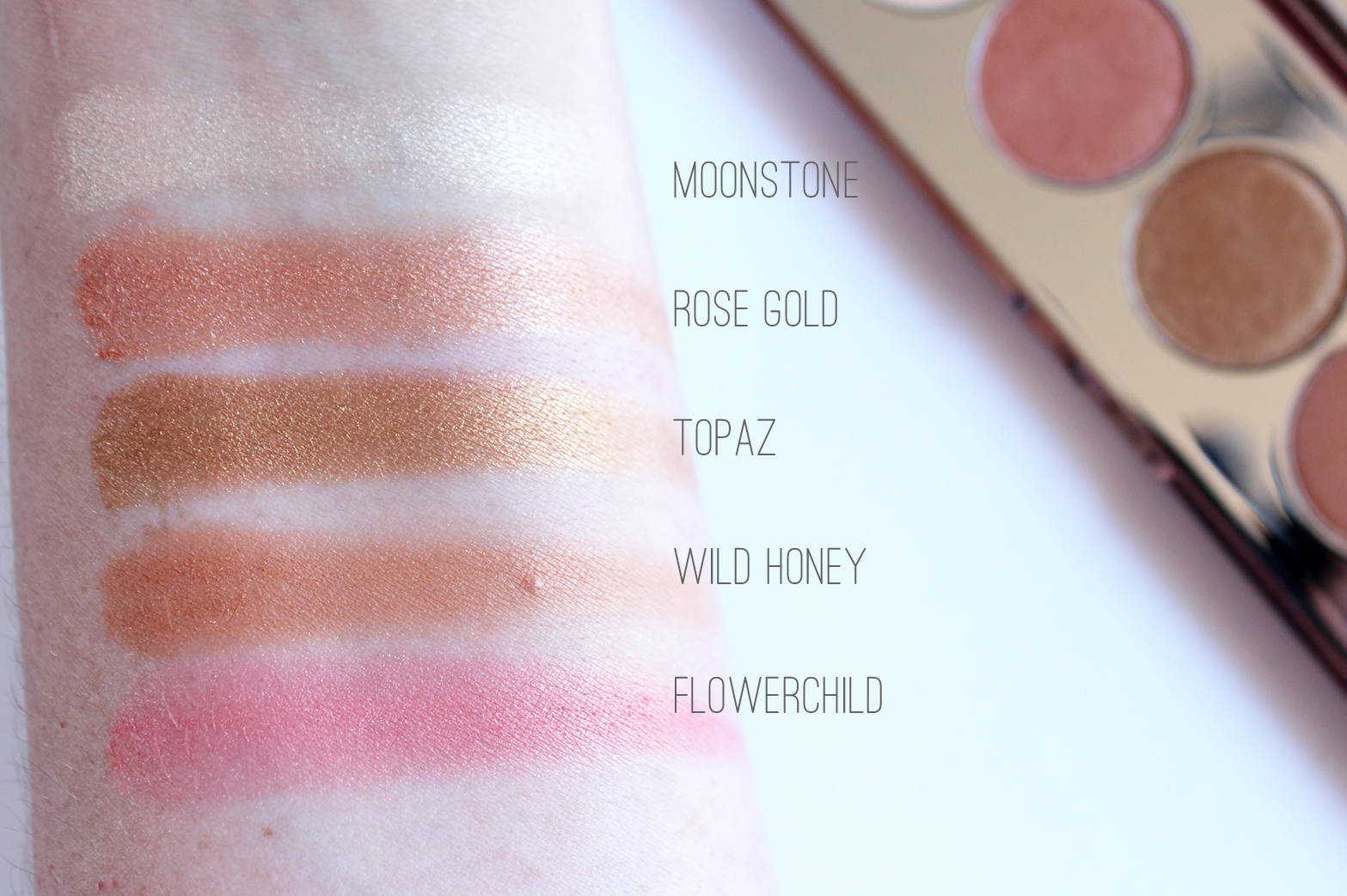 BECCA COSMETICS | Afterglow Palette - Review + Swatches ...