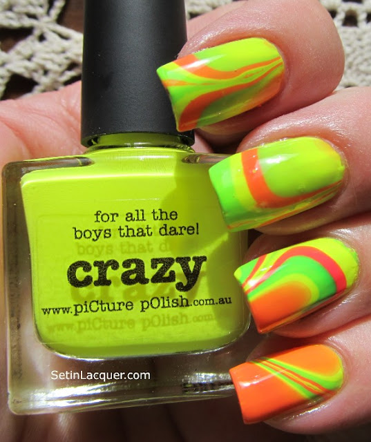 Picture Polish water marble
