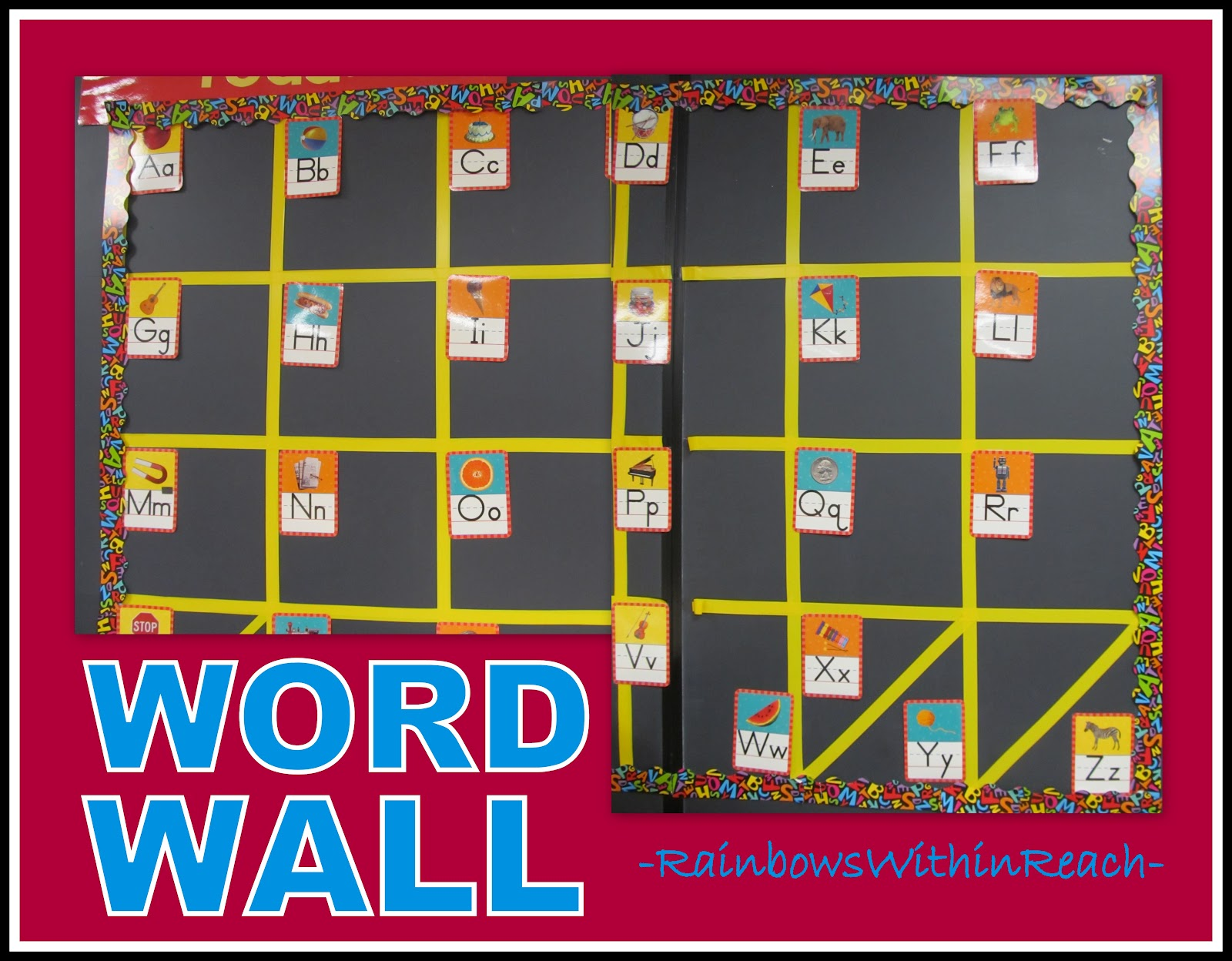 Classroom crashing word walls drseussprojects for Bulletin board template word