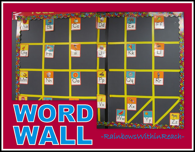 photo of: Word Wall Structure Awaits Words Being Added