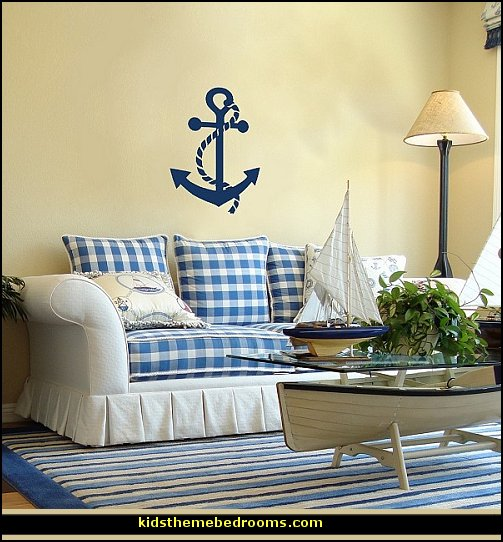 Decorating theme bedrooms maries manor nautical bedroom for Coastal wall decor ideas