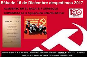 Almuerzo y fuesta Comunista en Málaga para despedir el año