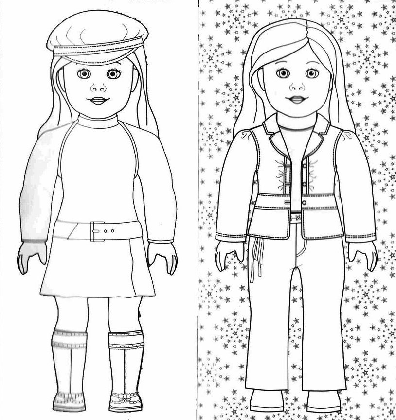 Free Coloring Pages Of American Girl Doll American Coloring Pages Julie Printable