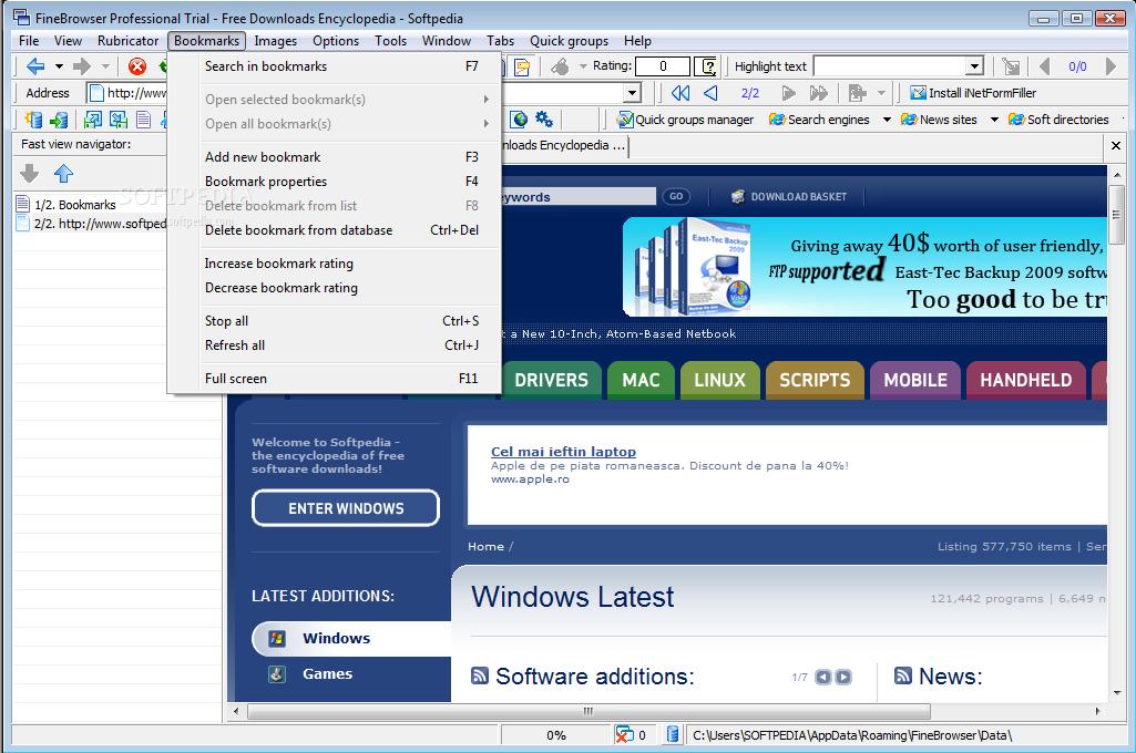 برنامج finebrowser لتصفح شبكة الانترنت اخر اصدار