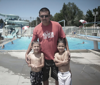 Daddy and The Boys Swimmin In Utah