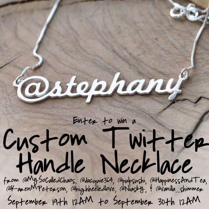 Win a custom twitter handle necklace