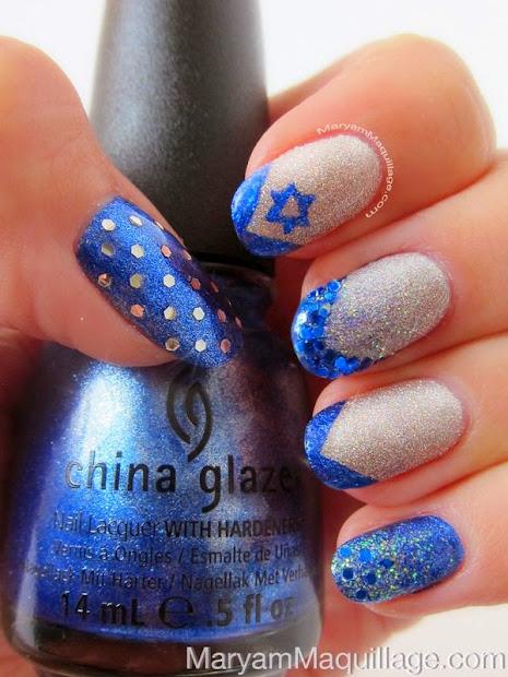 hanukkah nails manicure monday