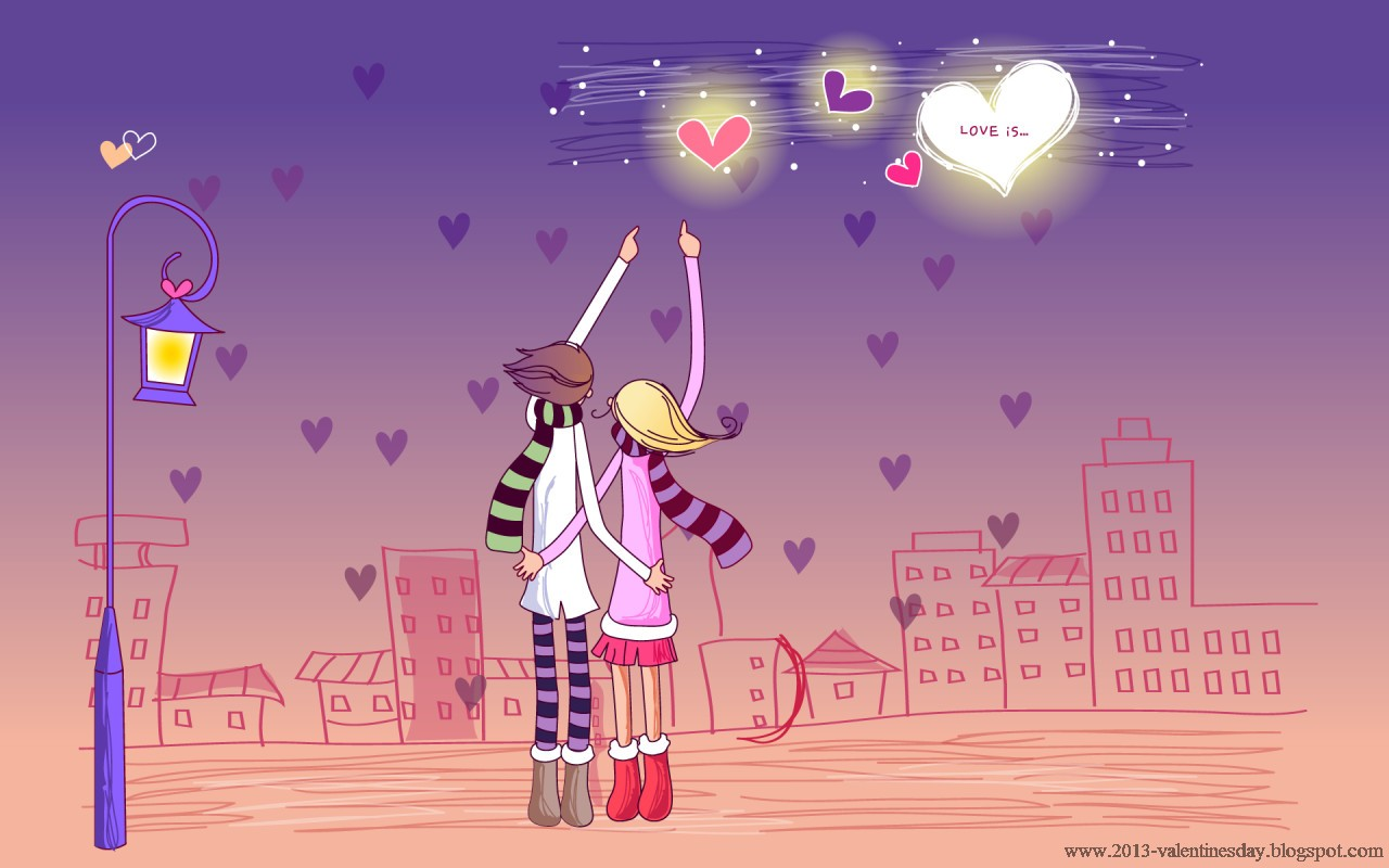 cartoon Love Full Hd Wallpaper : cute cartoon couple Love Hd wallpapers for Valentines day