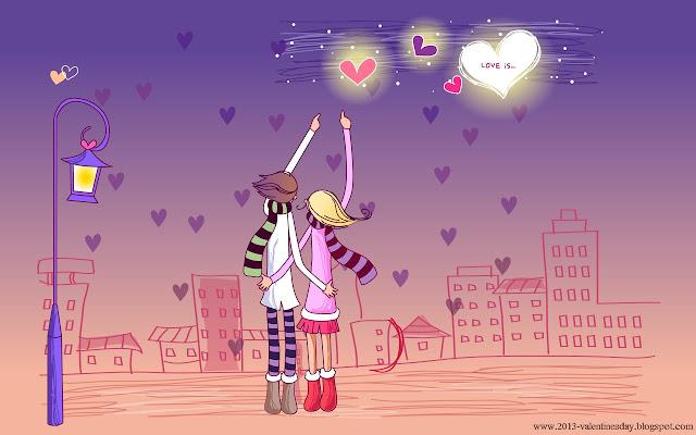 Being Valentine: Valentines Day Special Cartoon Couple Love Hd ...
