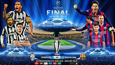 Final liga Champion 2015 Juventus vs Barcelona : Ajang duel memburu Treble Winners