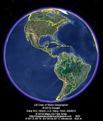 AMERICA EN EL MUNDO, vista diurna