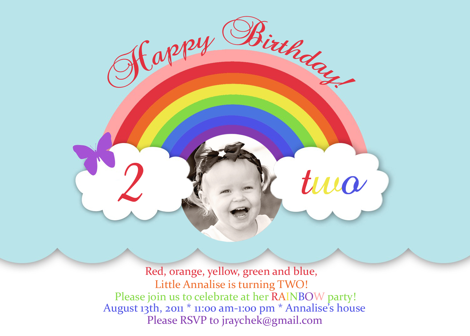 And She Wore Her First Nail Polish With Which Is Now Obsessed Rainbow Party Invitations