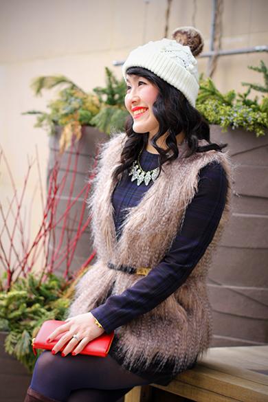 Sabine faux fur vest